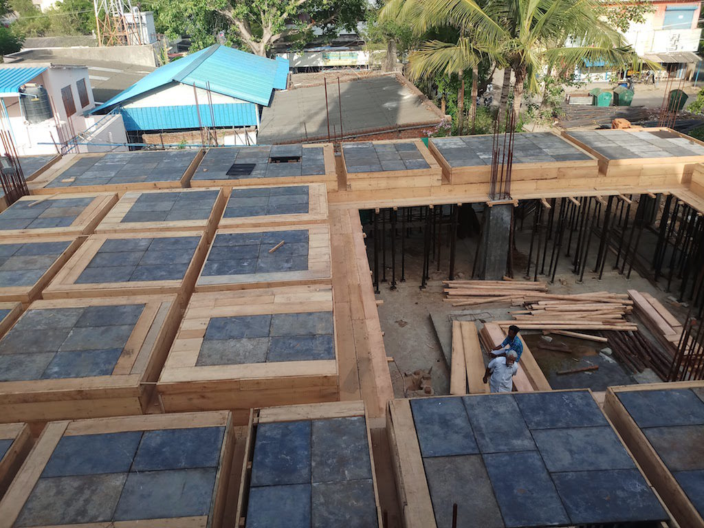 Shrivaikuntham construction