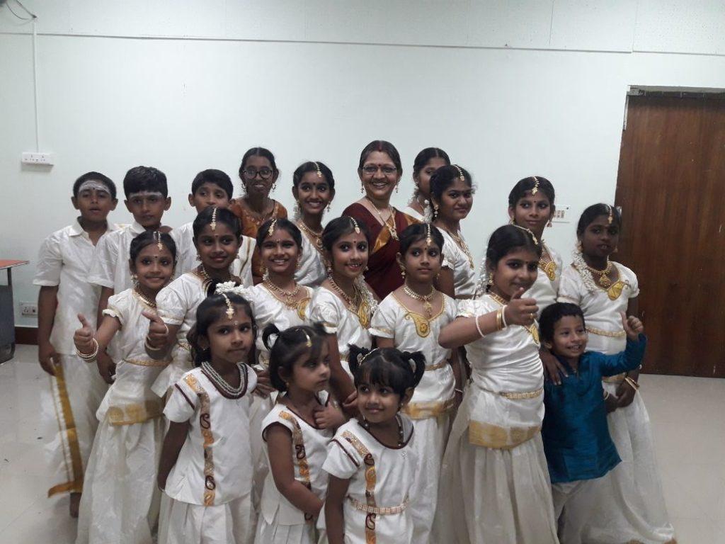 With their teacher Dr R Asha